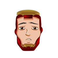 Ironman Sad Emoji
