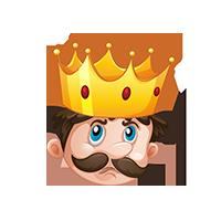 King Confused Emoji