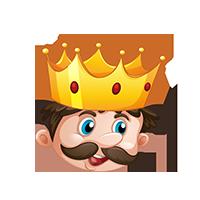 King Surprised Emoji