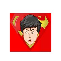 Superman Surprise Emoji