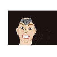 Wonder Woman Angry Emoji
