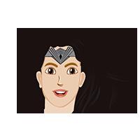 Wonder Woman Cute Emoji