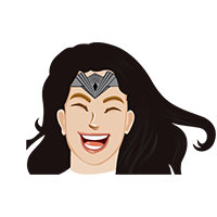 Wonder Woman Verry Happy Emoji
