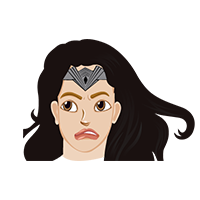 Wonder Women Sad Emoji