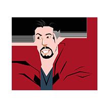 Doctor Strange Happy Emoji