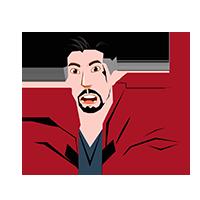 Doctor Strange Shocked Emoji