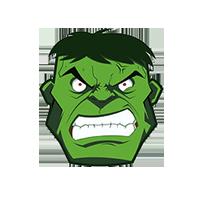 Green Hulk Emoji
