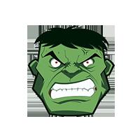 Light Green Hulk Emoji